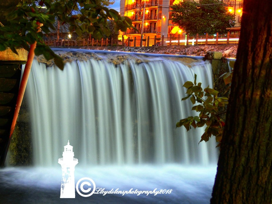 The Waterfall at The Old Mill Restaurant in Pigeon Forge Tennessee