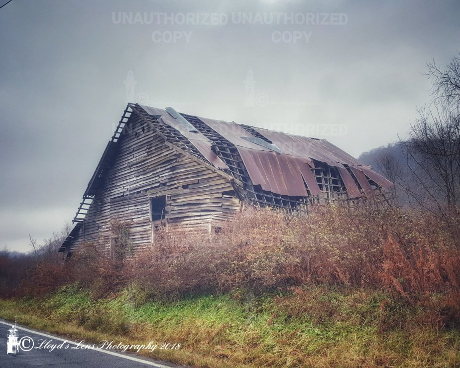 The Old Barn On Muddlety Creek, November 2018
