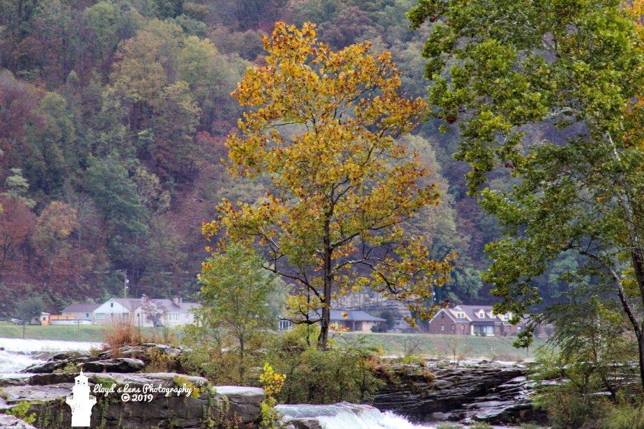 Kanawha Falls In Amber3